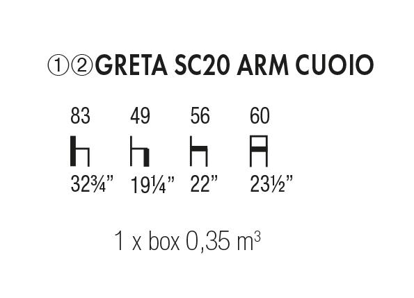 Greta SC 20 Arm Cuoio