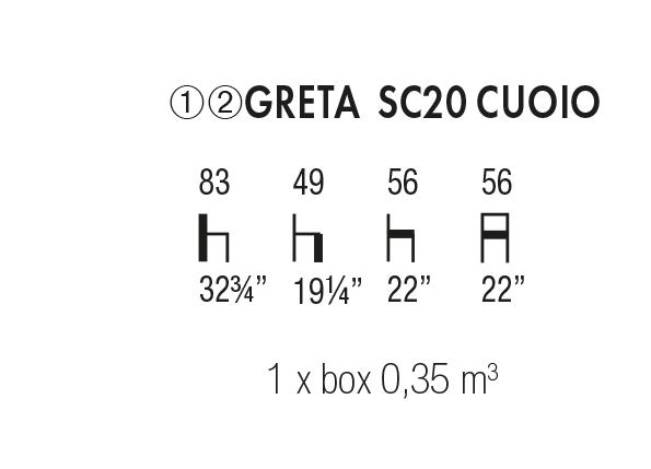 Greta SC 20 Cuoio