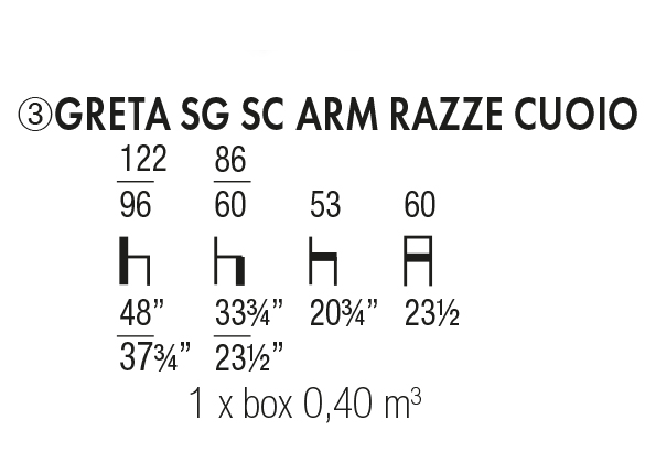 Greta SG SC Arm Razze Cuoio