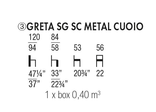 Greta SG SC Metal Cuoio